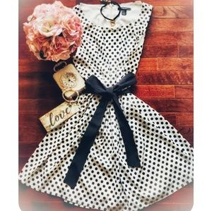 Forever 21 | Polka Dot Bow Dress | Black, White
